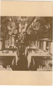 Pullman's Palace Commissary Car, Japanese lanterns, unused Postcard