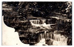 RPPC The Falls at Menomonee Falls, WI Real Photo Postcard
