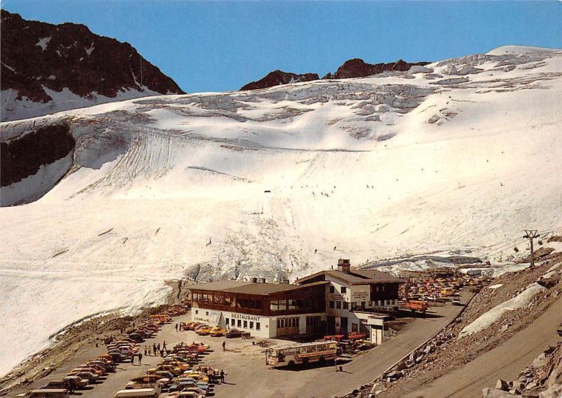 Gletscherstrasse Rettenbachferner Auto Cars Voitures Soelden Oetztal Tirol