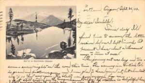 Butte Oregon Scenic Mountain View Antique Postcard K86306