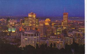 Canada Quebec Montreal At Night From Mount Royal