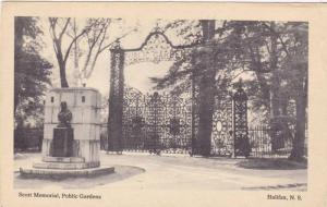 Scott Memorial, Public Gardens, Halifax, Nova Scotia, Canada, 1910-1920s