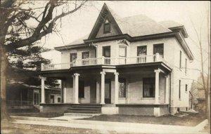 Platteville WI Elm St. Home 1907 Real Photo Postcard