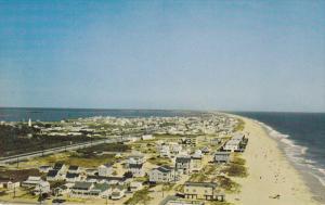 Aerial view of beach & Homes , FENWICK ISLAND , Delaware , 40-60s