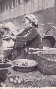 Indian Markets Selling Vegetables Photo Bazar Antique Postcard