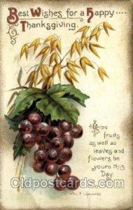 Artist Ellen Clapsaddle, Thanksgiving 1912 some corner wear, water stains on ...