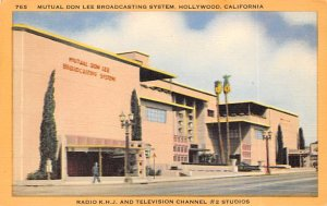 Theaters Post Card Mutual Don Lee Broadcasting System Hollywood, California, ...