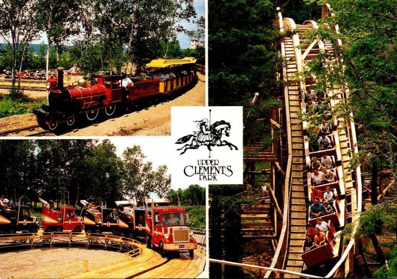 Canada Nova Scotia Upper Clements Park Roller Coaster Miniature Train & Truck...
