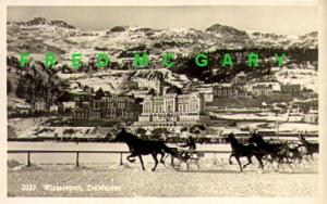 1915 Lugano Switzerland RPPC: Trabfahren / Sleigh Racing