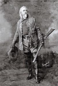 Vintage Reproduction Photo Portrait Postcard of Cowboy Buffalo Bill c1910 65C