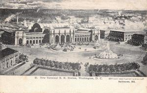 Washington DC~New Terminal Railroad Station~Architect View~Artist HM Pettit~1906