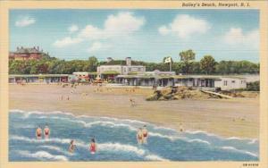 Rhode Island Newport Bailey's Beach Curteich