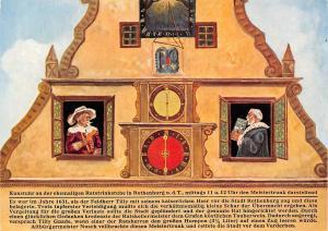 Rothenburg ob der Tauber Kunstuhr Clock The Mayor's Drink