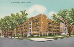 Illinois Quincy High School Curteich