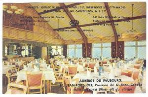 Auberge du Faubourg , ST. JEAN-PORT-JOLI, Quebec, Canada, 50-60s ; Dining room