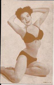 Arcade Card,Sexy Woman, ca. 1950-60's Bikini, Swimsuit, Hair, Pretty Girl 24