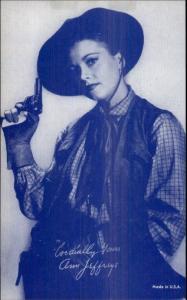 Cowgirl Western Movie Actress Mutoscope Exhibit Card - Ann Jeffreys