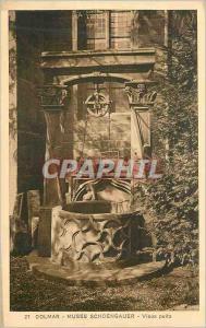 Old Postcard Colmar Museum Schoengauer Old well