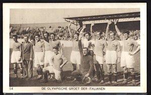 Summer Olympics Amsterdam 1928 The Italian Soccer (Football) Team