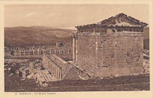 Algeria Djemila Le Grand Temple
