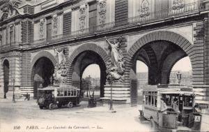 Vintage Postcard PARIS Les Guichets du Carrousel, Buses, France #P