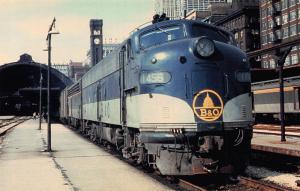 Goin to the Dome Baltimore & Ohio EMD E-units but #1456 Postcard