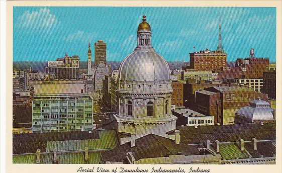 Indiana Indianapolis Aerial View Of Dowtown