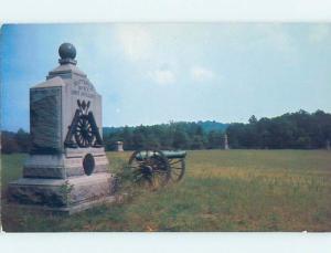 Unused Pre-1980 CIVIL WAR CANNON AT WHEATFIELD Gettysburg Pennsylvania PA F1593