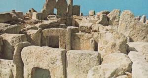 Malta Prehistoric Dinosaur Temples Postcard