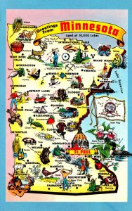 Minnesota Greetings With Map
