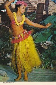 Risque Semi-Nude Tahitian Dancer