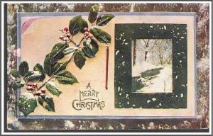 Christmas Holly Embossed - [MX-210]
