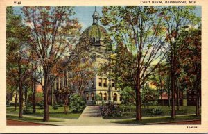 Wisconsin Rhinelander Court House 1953 Curteich
