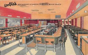 4281 FL Miami  Wolfies Restaurant & Sandwich Shop Dinning Room and Counter