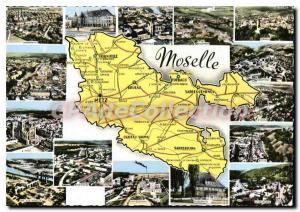 Moselle tourist map Modern Postcard