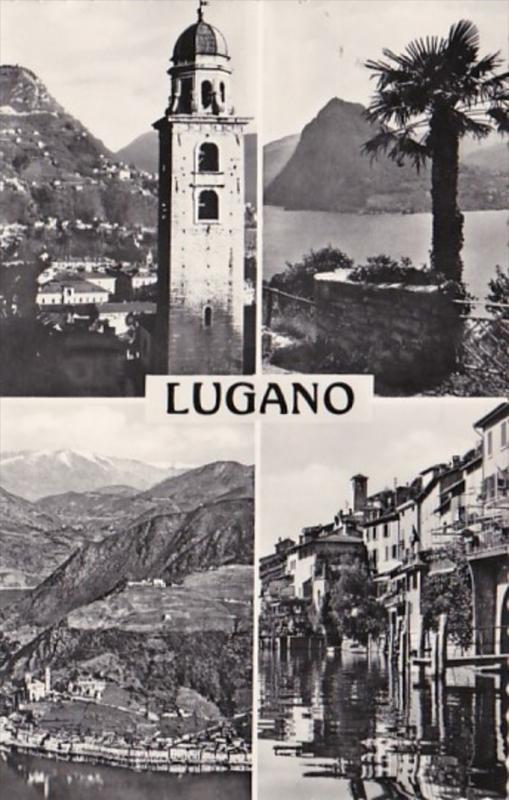 Switzerland Lugano Multi View 1957 Photo