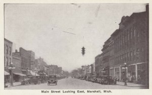 MARSHALL , Michigan, 1910s; Main Street looking East, Store Fronts