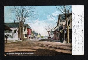 NH View Main St HILLSBORO BRIDGE NEW HAMPSHIRE 1906 UDB