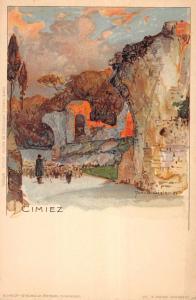 Cimiez France Artistic  French  View Vintage Postcard L530