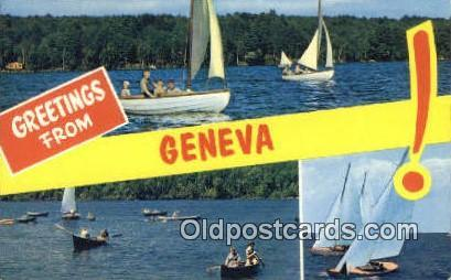 Geneva, USA Large Letter Town Postcard Post Card Old Vintage Antique  Geneva,...