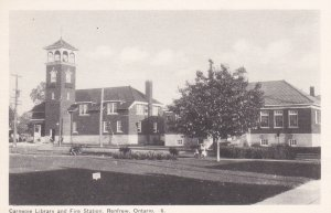 RENFREW , Ontario , Canada , 10-30s ; Carnegie Library & Fire Station