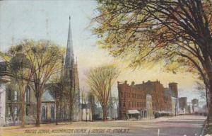 New York Utica Balliol School Westminster Church & Genesee Street 1908 Rotograph
