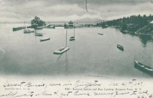 KINGSTON , New York, 1905; Railroad Station and Boat Landing