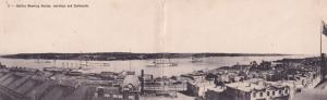 Military Warships In Halifax Harbor Canada Fold Open Antique Postcard