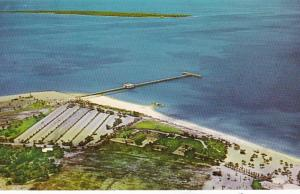 Florida St Petersburg Fort De Soto Park and Pier Looking Across Egmont Key