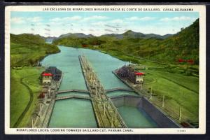 Miaraflores Locks Looking Towards Gaillard Cut,Panama Canal BIN