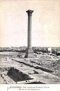 The So Called Pompeyus Piliar, Ruins of the Serapeum Alexandria Egypt, Egypte...