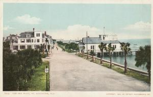 ST AUGUSTINE , Florida , 1904 ; The Sea wall , Road