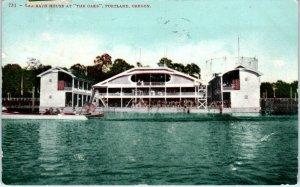 PORTLAND, OR Oregon   The BATH HOUSE at THE OAKS   1909   Postcard