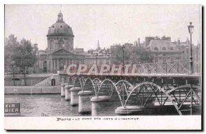 Postcard Old Paris The Art Institute of Bridge